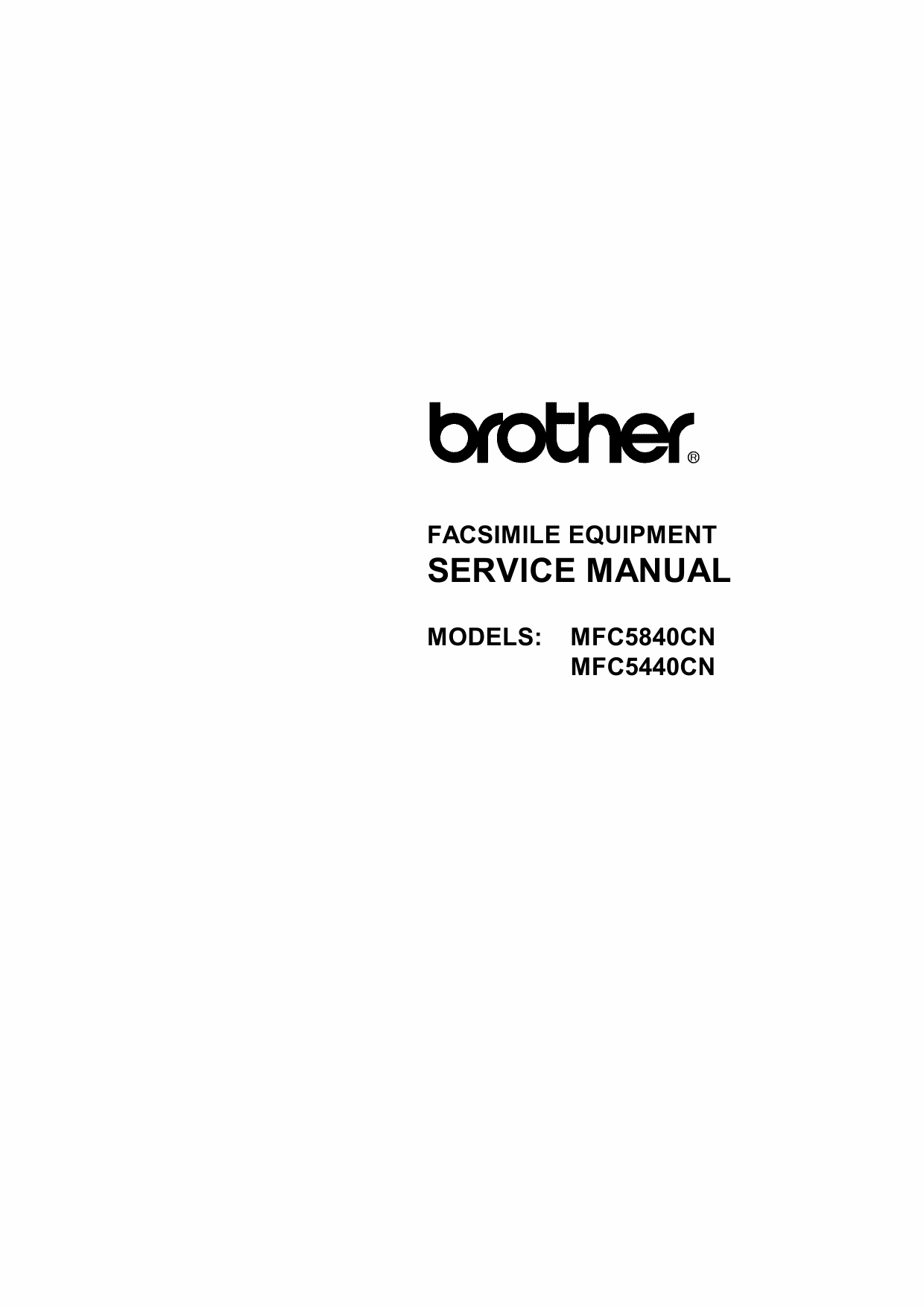 Brother MFC 5440CN 5840CN Service Manual and Parts-1